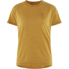Klättermusen Eir Rain T-shirt Femme, dark honey